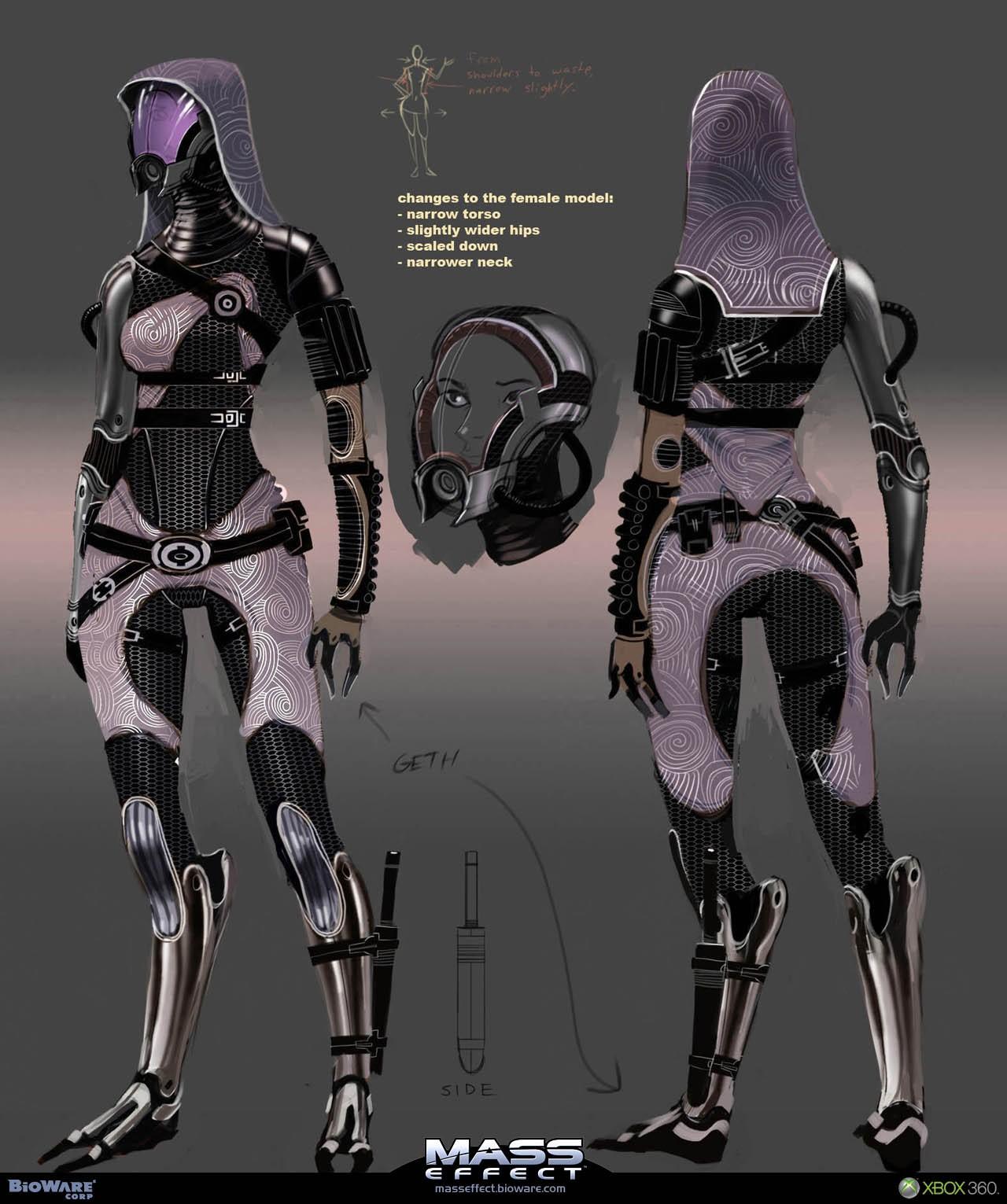 Кварианка в защитном костюме - Кварианцы (Quarian) - Расы - Mass Effect