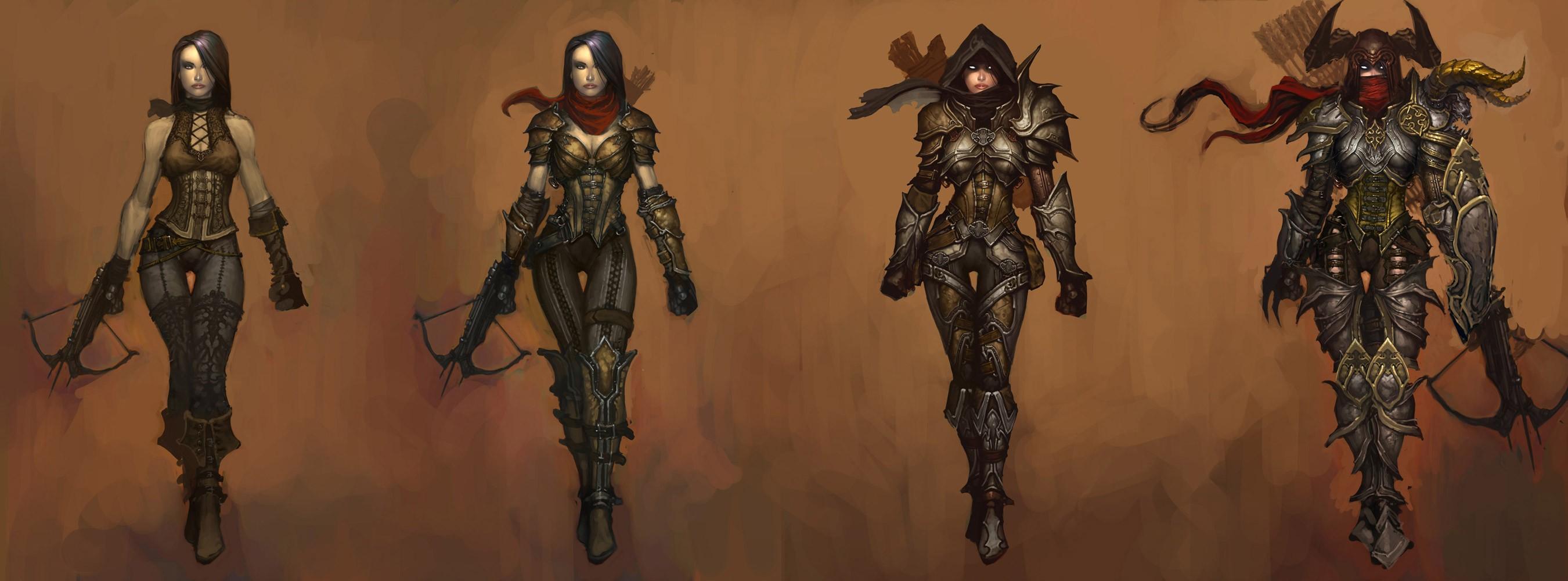 Изменения облика персонажа по мере совершенствования мастерства - Охотник на демонов (Demon Hunter) - Классы персонажей - Diablo