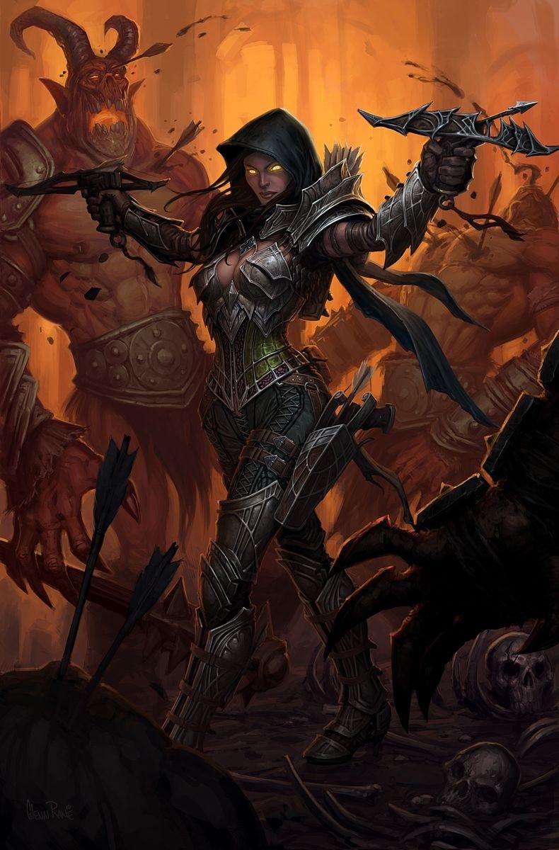 Охотник на демонов (Demon Hunter) - Классы персонажей - Diablo