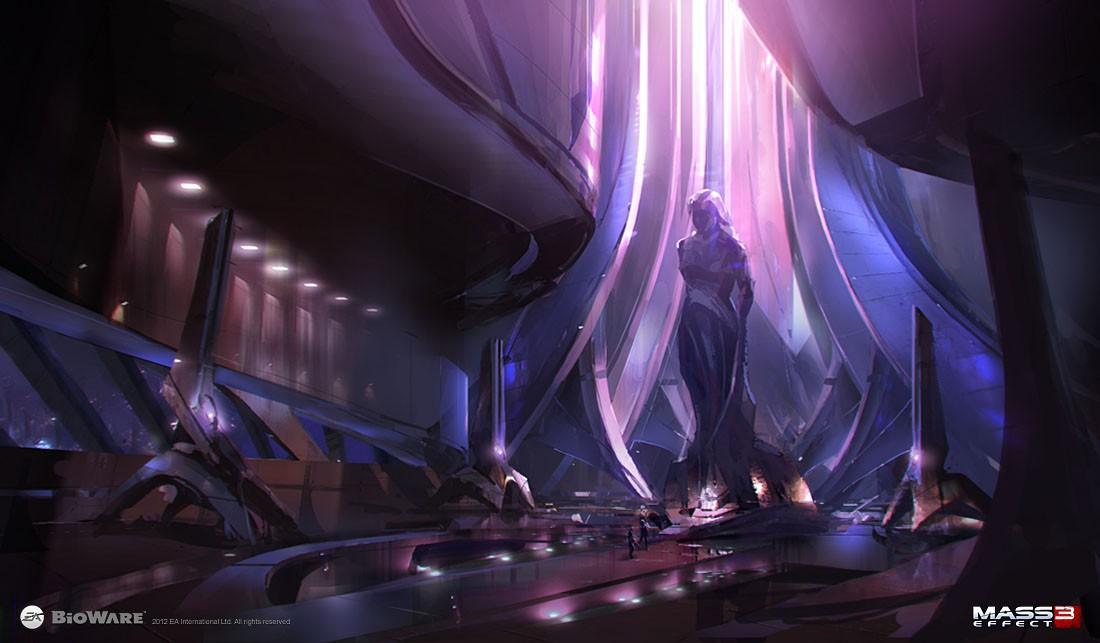 Храм богини Атаме на Тессии - Азари (Asari) - Расы - Mass Effect