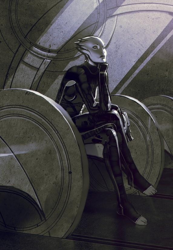 Эскиз азари Мэтта Родоса - Азари (Asari) - Расы - Mass Effect