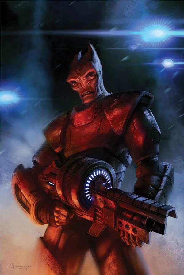 Сотрудник ГОР - Саларианцы (Salarian) - Расы - Mass Effect