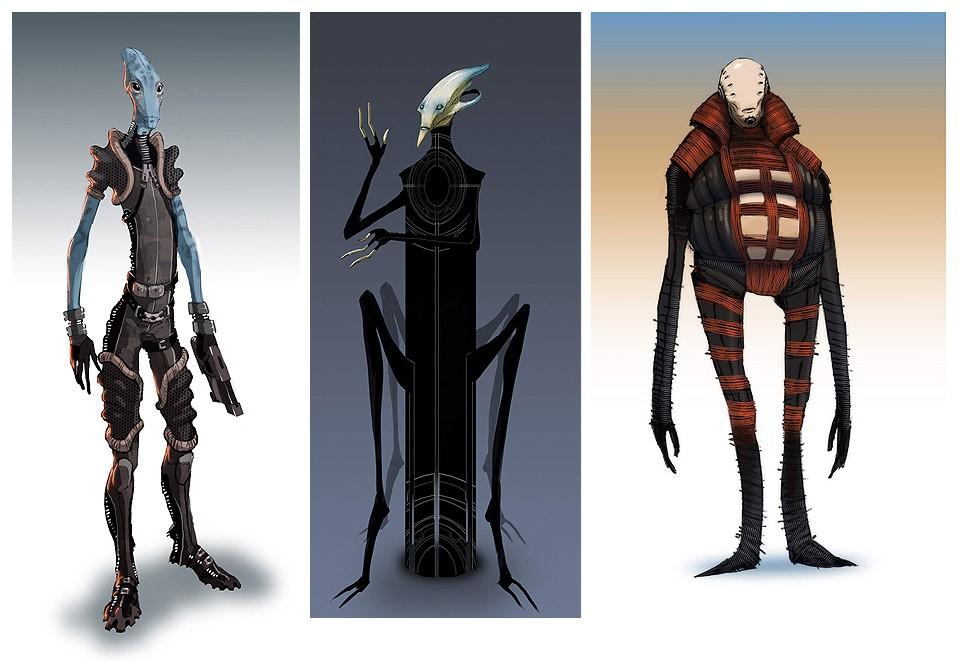 Ранние концепты расы - Саларианцы (Salarian) - Расы - Mass Effect